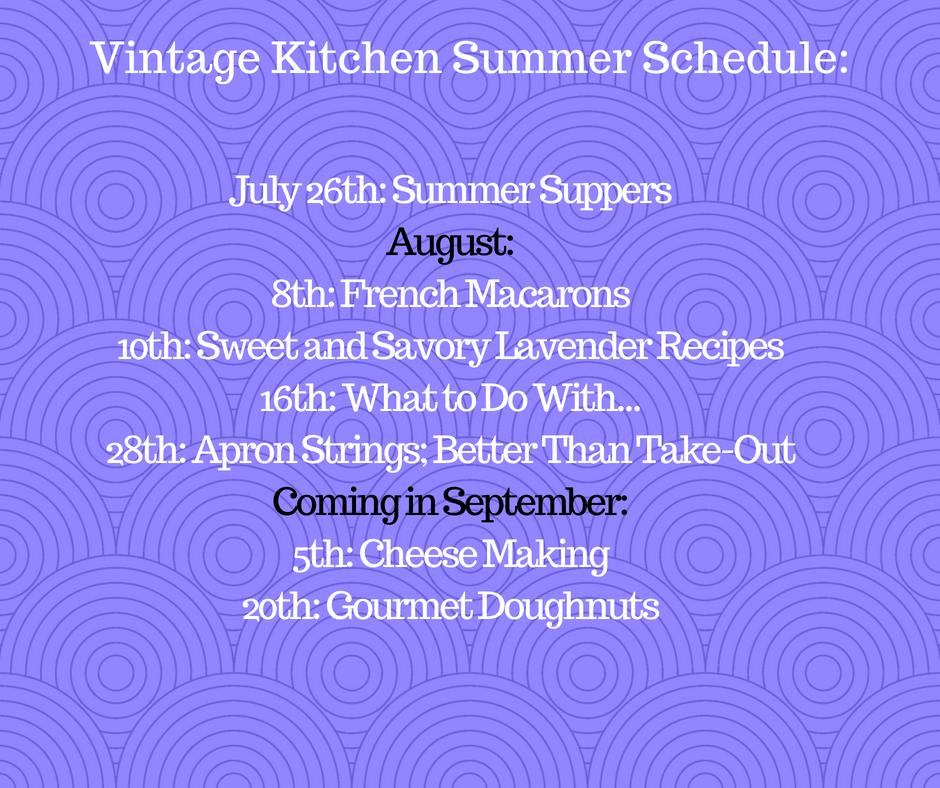 Vintage Kitchen Summer Schedule_