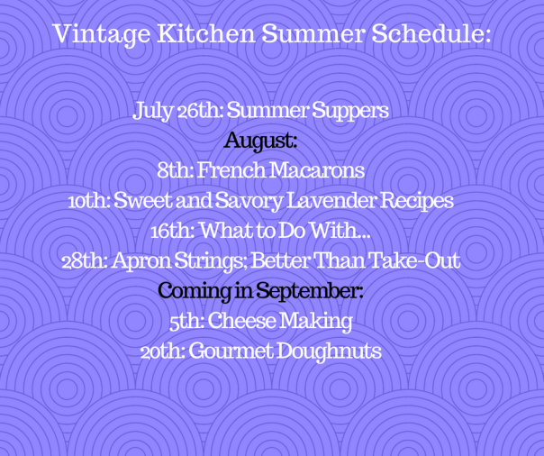 Vintage Kitchen Summer Schedule_